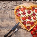 Image of Heart-shaped Pepperoni Pizza