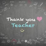 Image Chalk Board — Thank You Teacher (text)