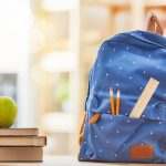 Image of School Backpack, Apple, Books