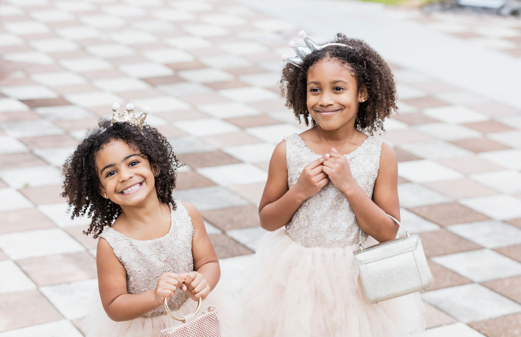 Image of Two Little Girls in Tutus